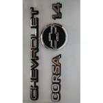 Kit Emblemas Corsa 1.4 até 1998