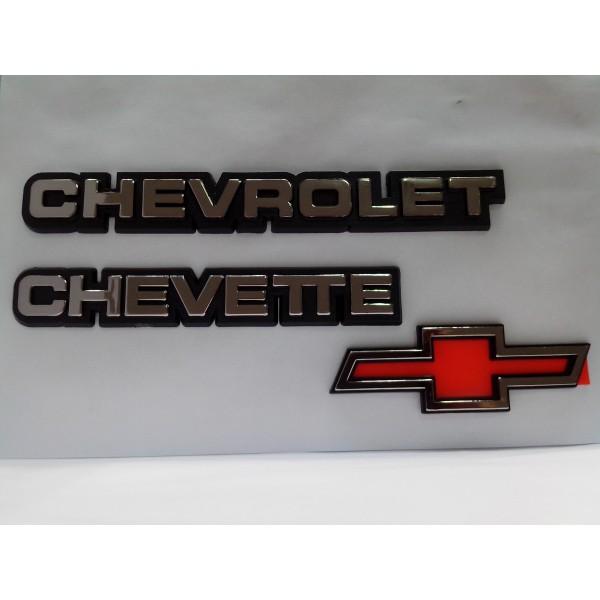 Kit Emblemas Chevette 1983 a 1994