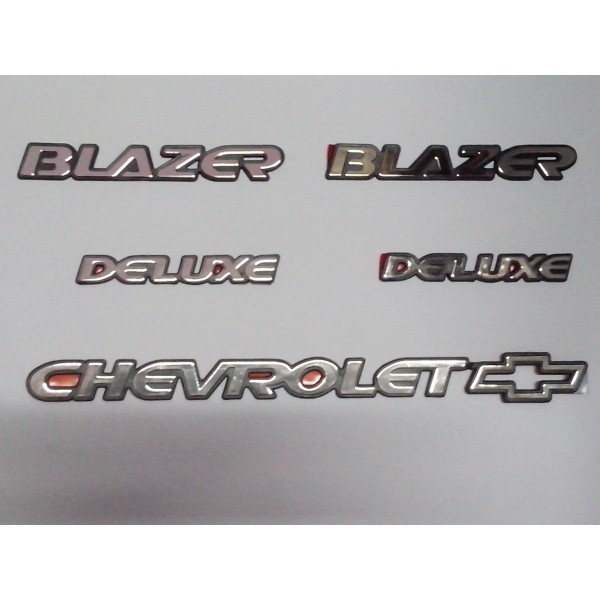 Kit Emblemas Blazer Deluxe