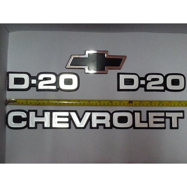 Kit Emblemas D 20 Chevrolet