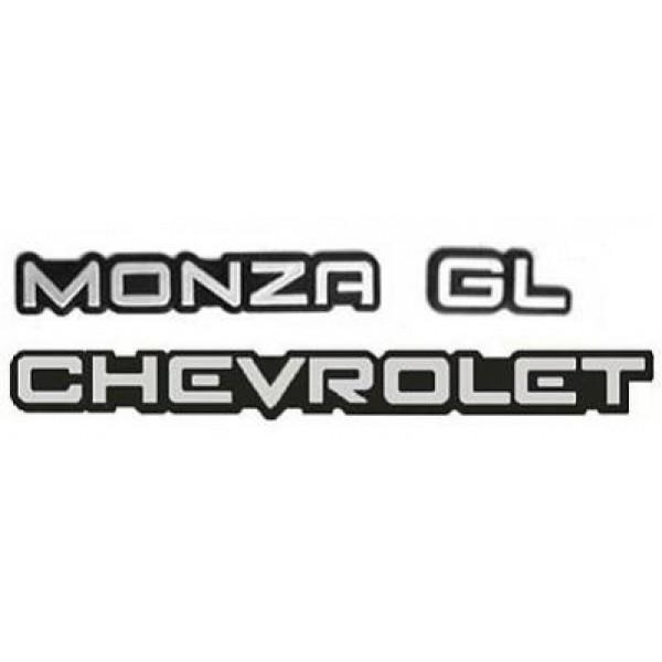 Kit Emblemas Monza GL 91 em diante