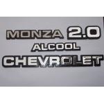 Kit Emblemas Monza até 90 2.0 Alcool