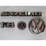 Kit Emblemas Saveiro 1.8 até 1990 Cromado