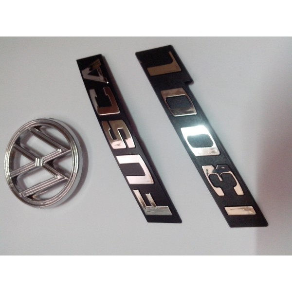 Kit Emblemas Fusca 1300 L Cromado
