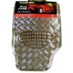 Tapete Metalizado Cromado Universal 4 pç