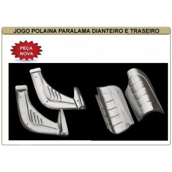Polaina Paralamas Fusca Alumínio Kit 4 pç