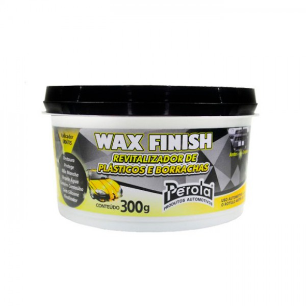 Wax Finish revitalizador de plástico e borrachas.